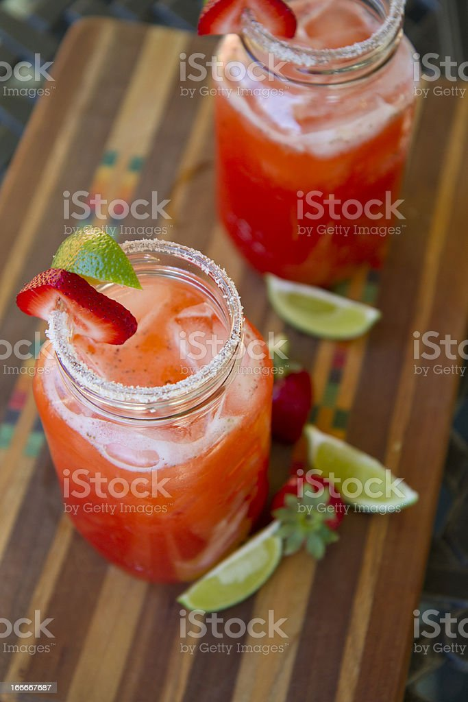 Strawberry-Lime Cocktail stock photo