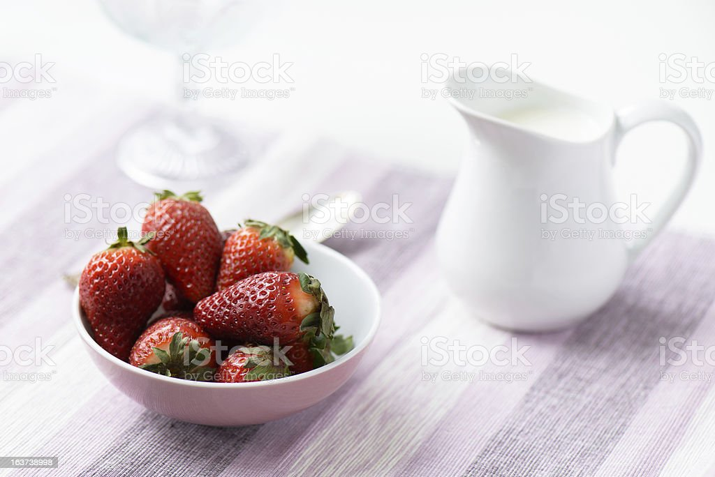 Strawberrys in bowl royalty-free stock photo