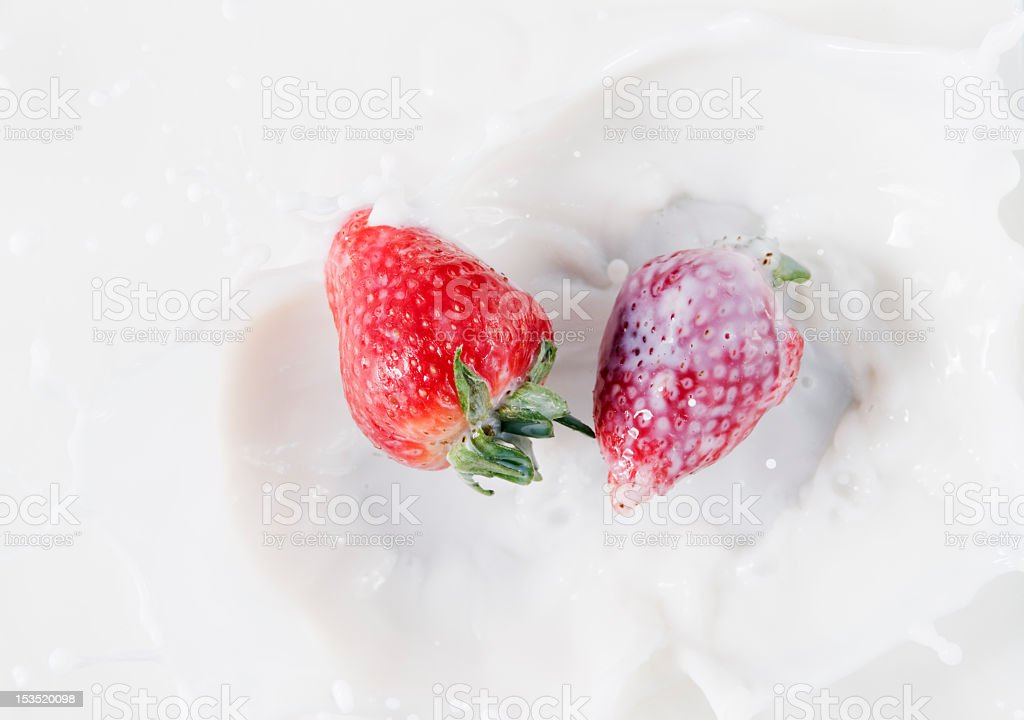 strawberrys side by royalty-free stock photo