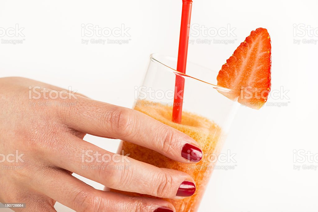 strawbery smoothie royalty-free stock photo