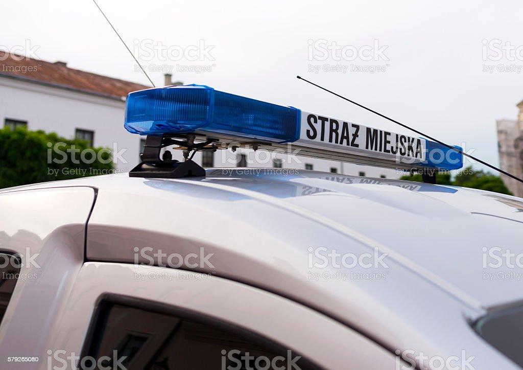 Straz Miejska - Polish Order Service stock photo
