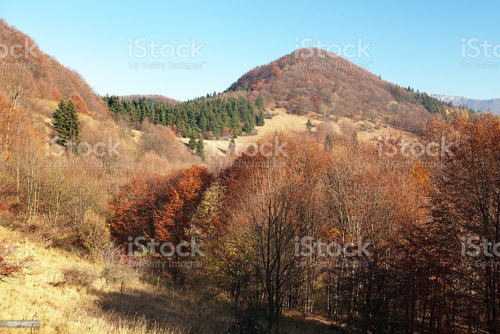 Strazovske vrchy, Carpathian mountains, Slovakia stock photo
