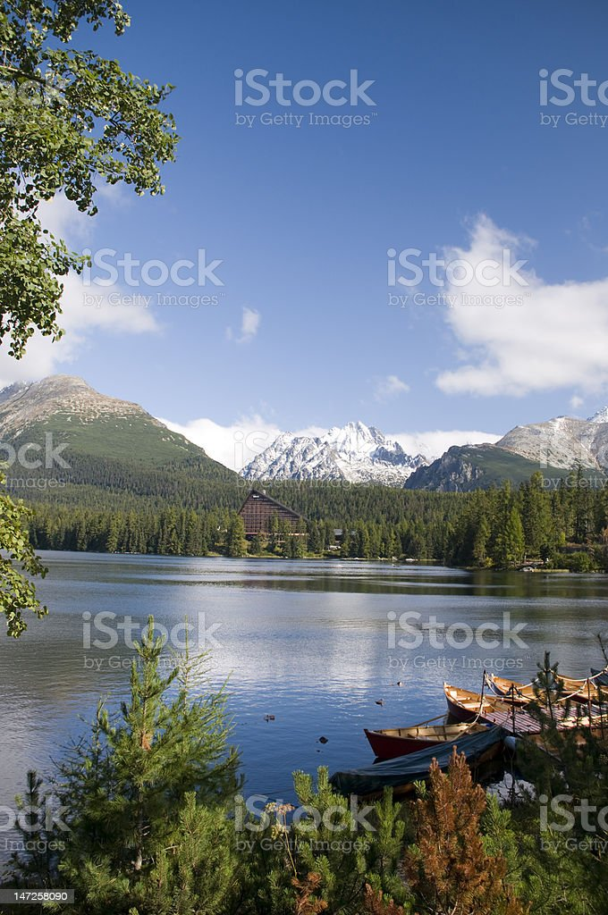Strbske pleso Lake royalty-free stock photo