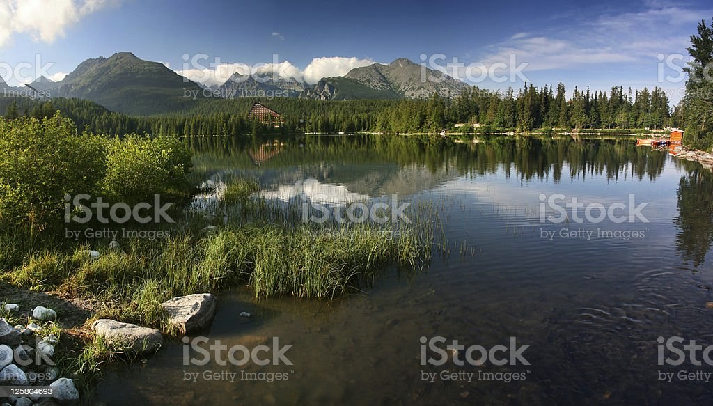 Strbske Pleso - Mountain lake stock photo
