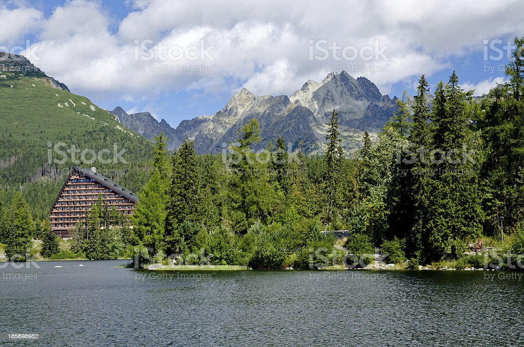 Strbske Pleso - Mountain lake royalty-free stock photo