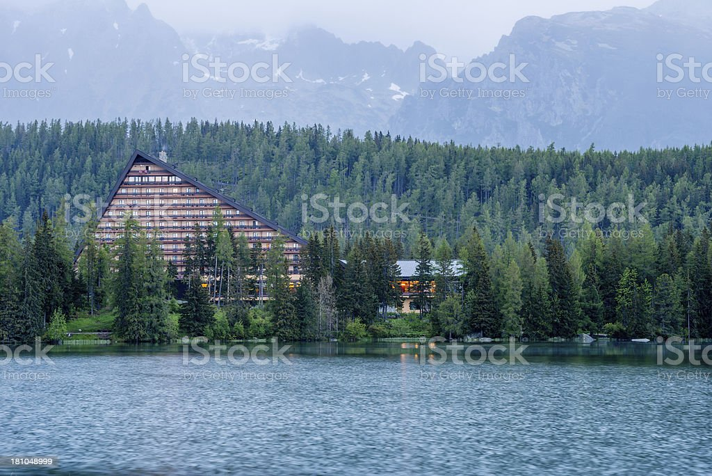 Strbske Pleso royalty-free stock photo