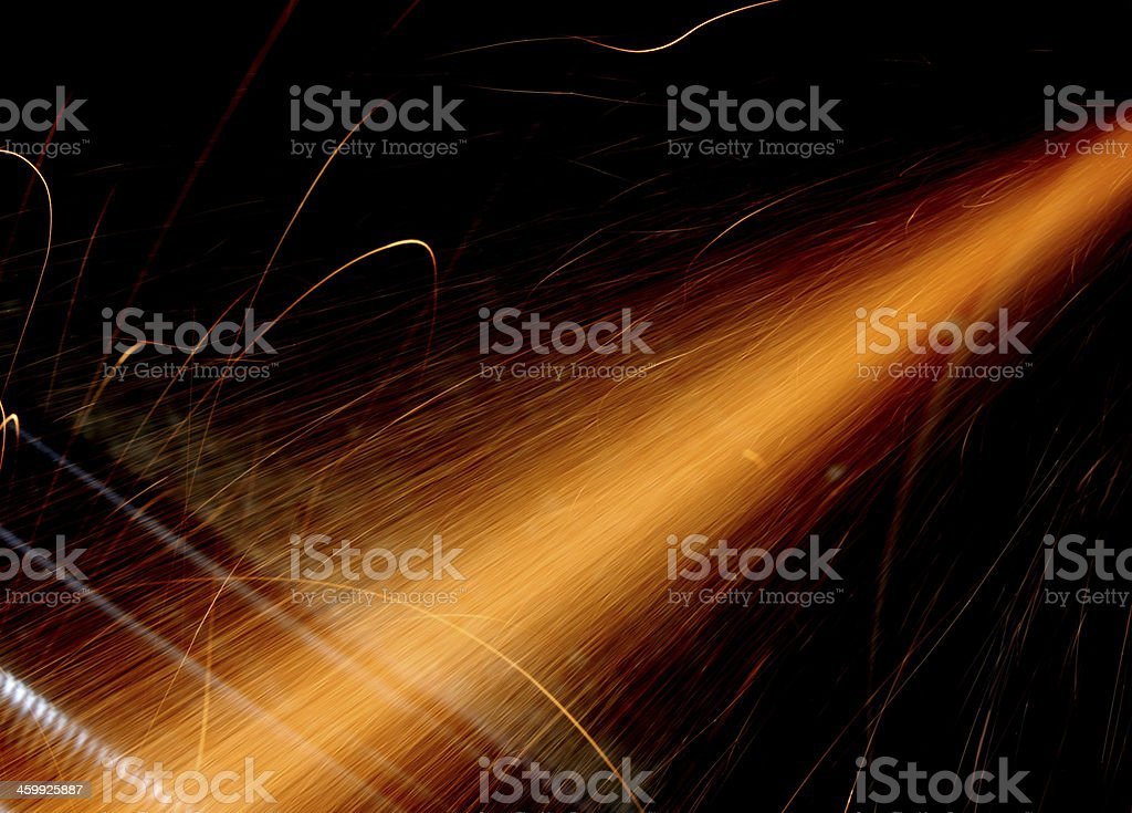 Streak of Lights stock photo
