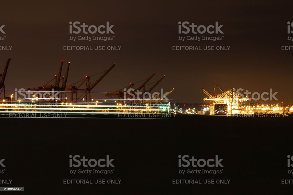 Streaks at the Port stock photo