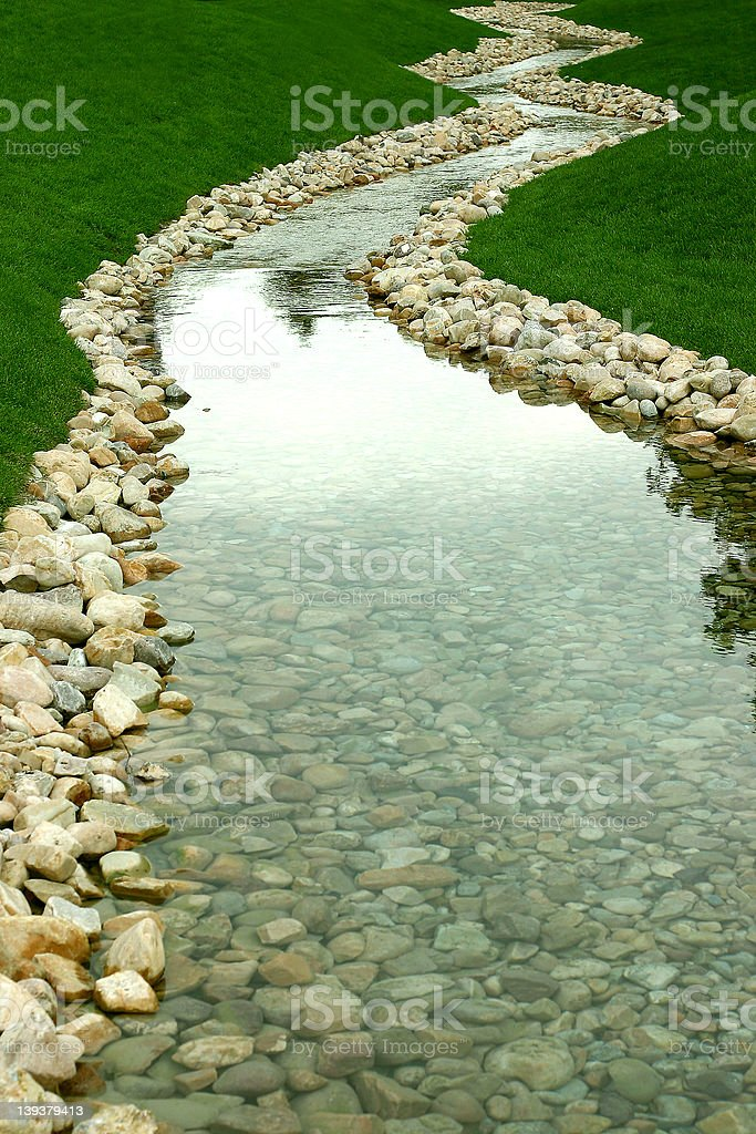 stream and river of perspective royalty-free stock photo