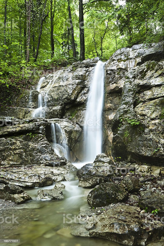Stream and waterfall in the Black Forest royalty-free stock photo