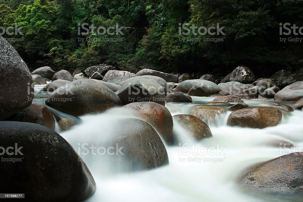 Stream and waterfall royalty-free stock photo