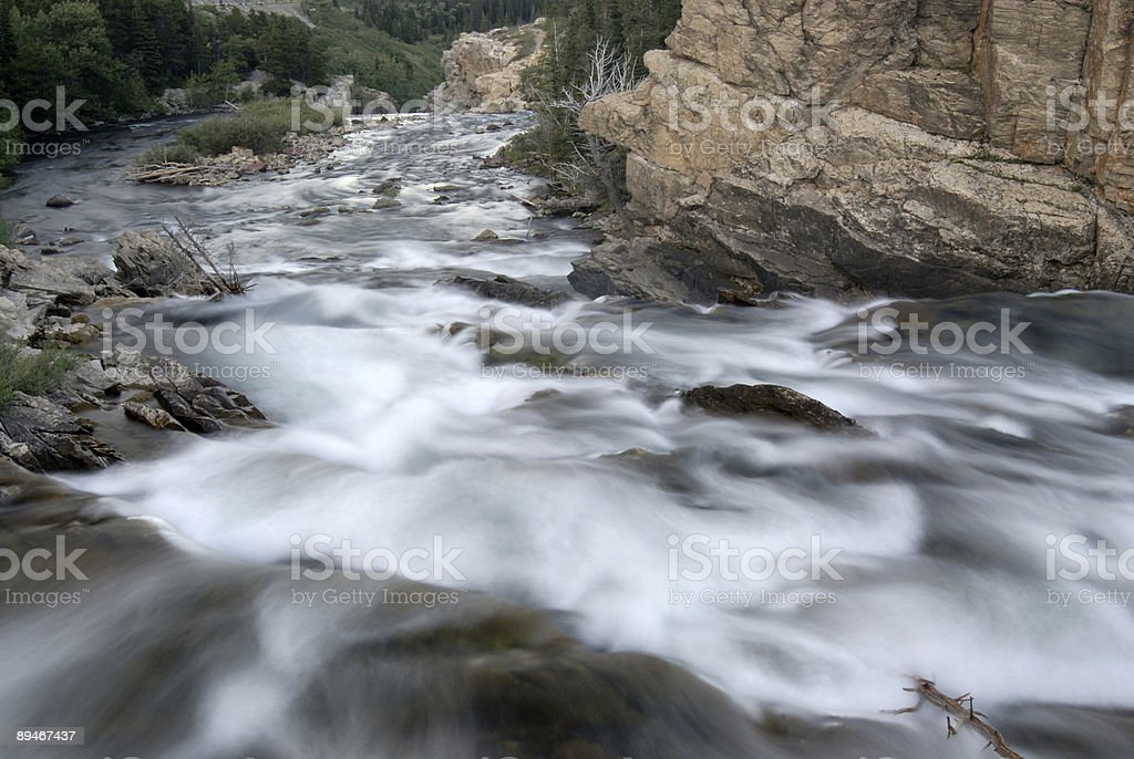 Stream at Glacier National Park royalty-free stock photo