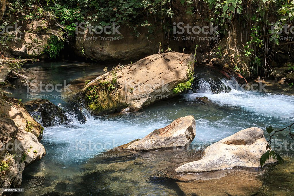 Stream Bahias (Hermon), National Reserve, Israel. Golan heights stock photo