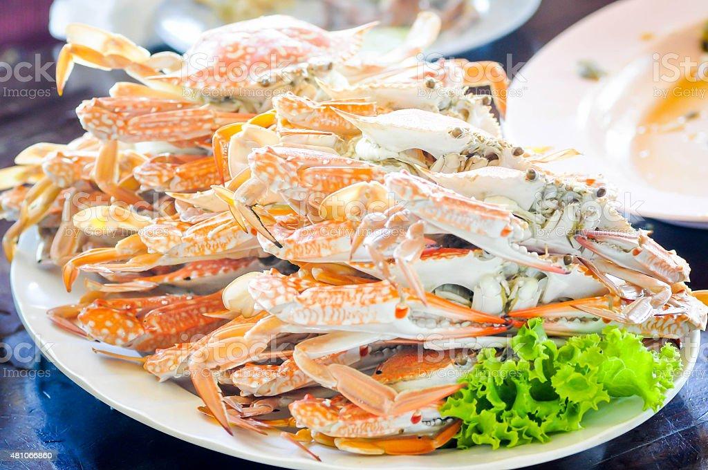 stream crab dish stock photo