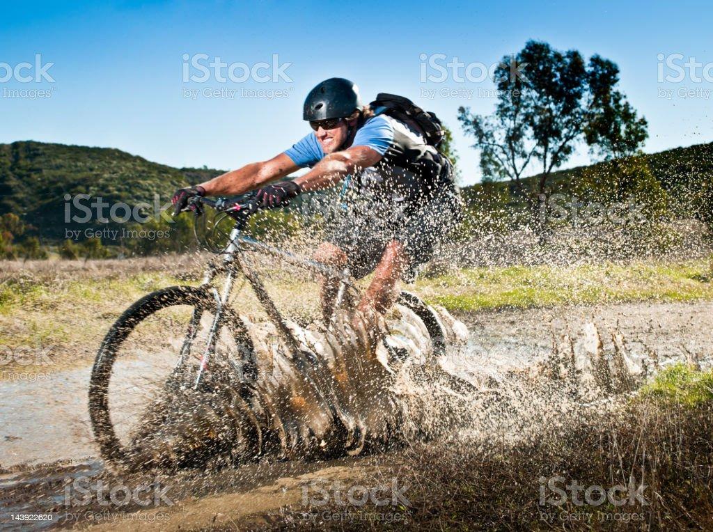 Stream Crossing stock photo