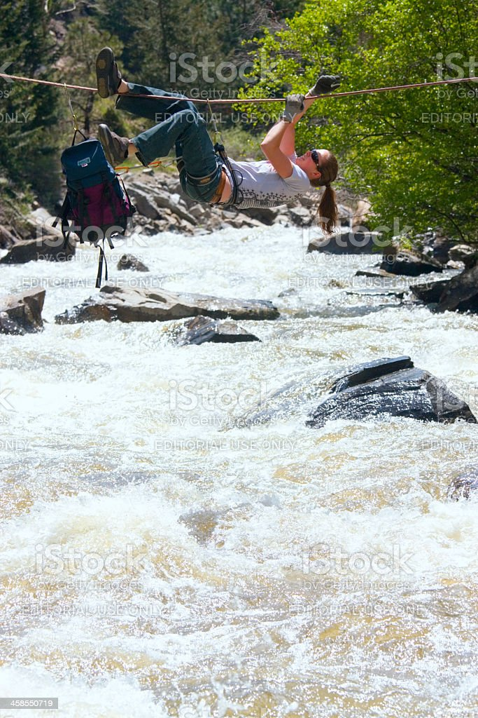 Stream Crossing royalty-free stock photo