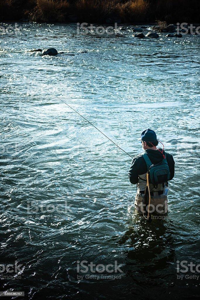 Stream Fishermen stock photo