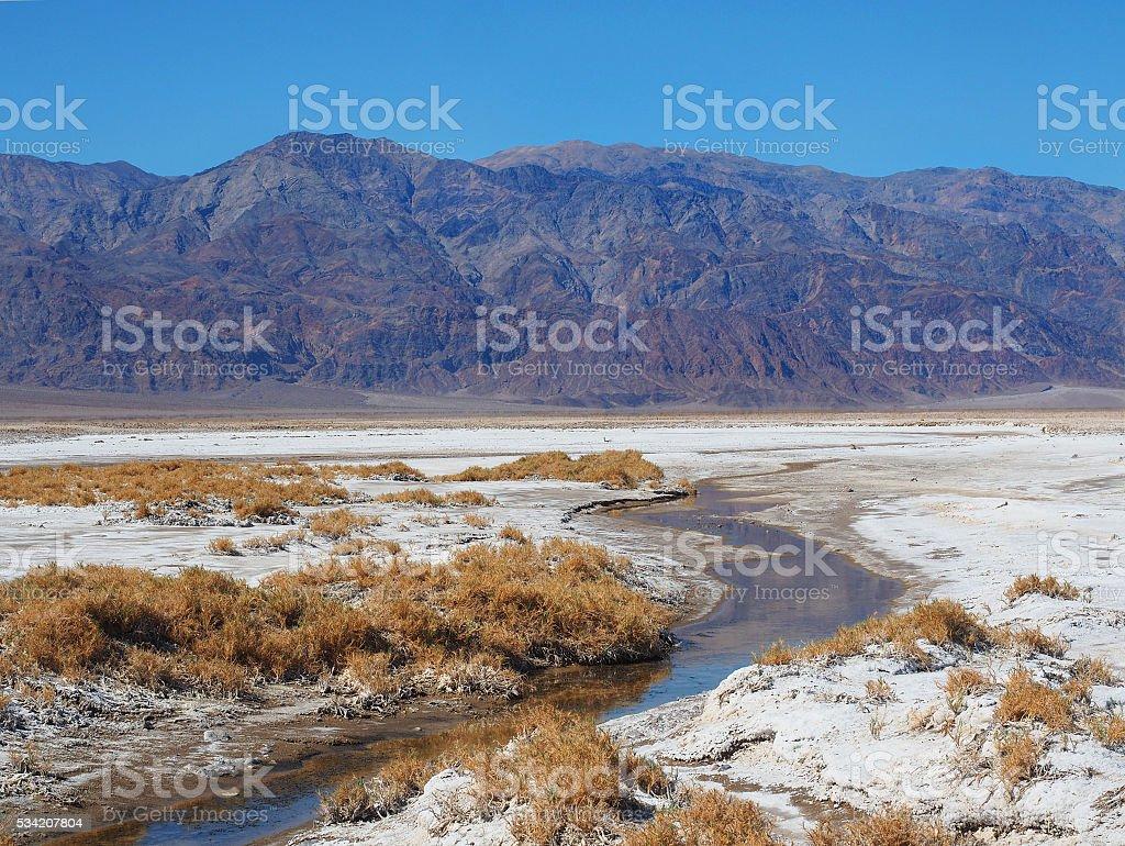 Stream in Death Valley near the Harmony Borax Works stock photo