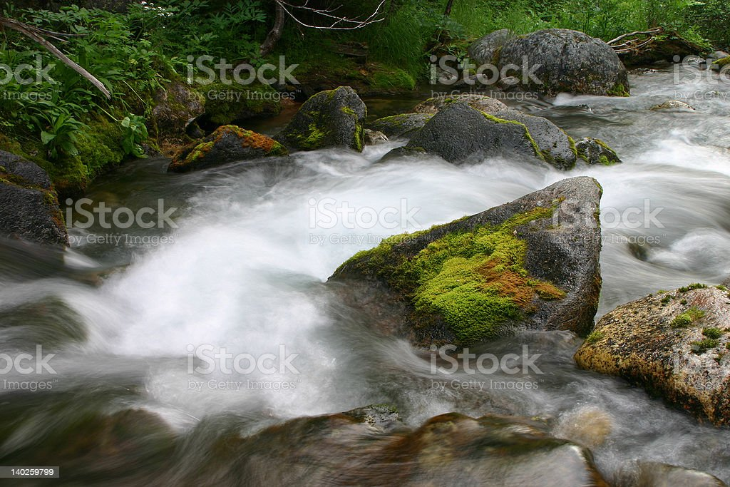 Stream in northern high mountains royalty-free stock photo