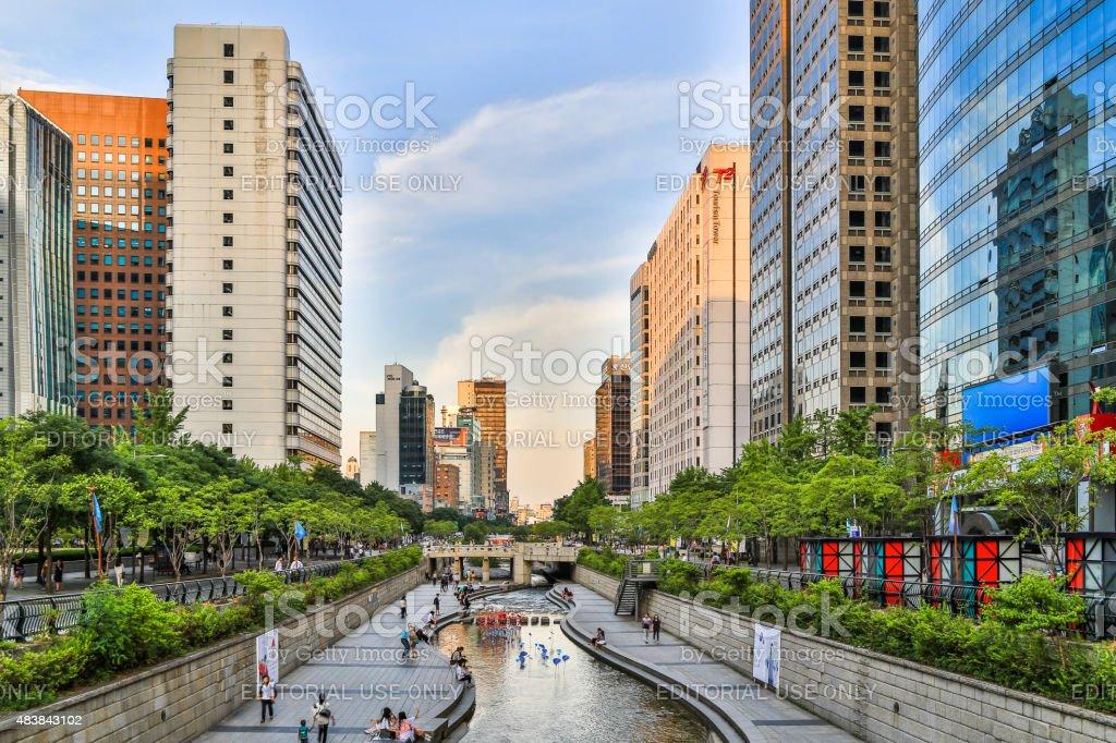 Stream In Seoul City stock photo