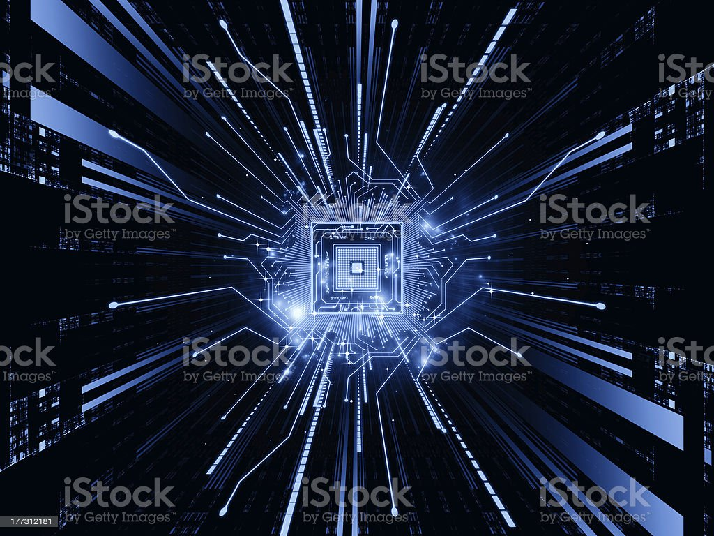CPU Stream stock photo