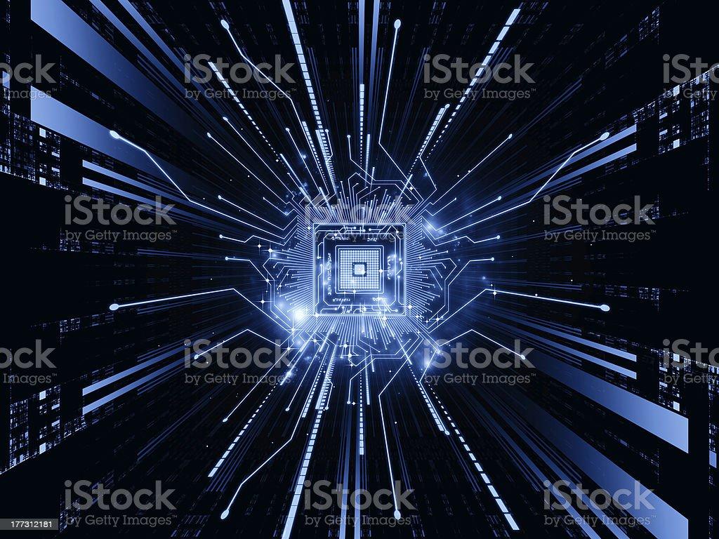 CPU Stream stock photo