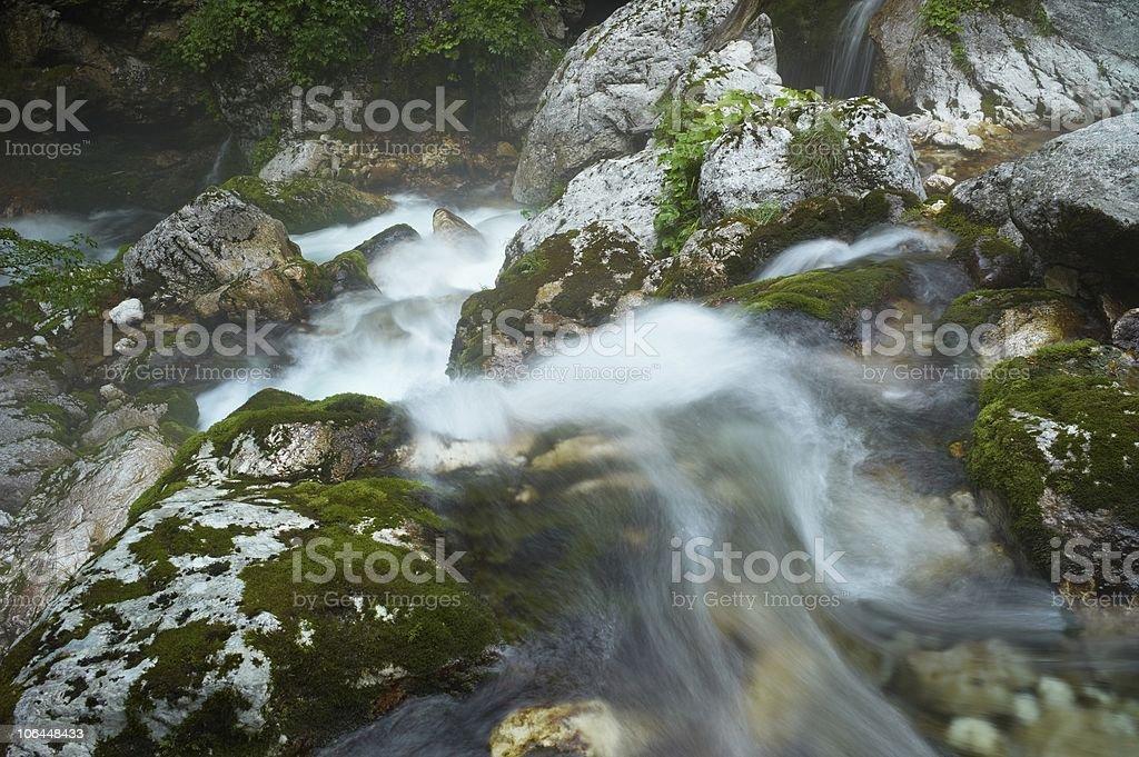 Stream Running Water stock photo