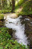 Stream with a waterfall