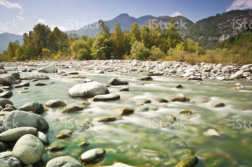 streambed in wilderness landscape royalty-free stock photo