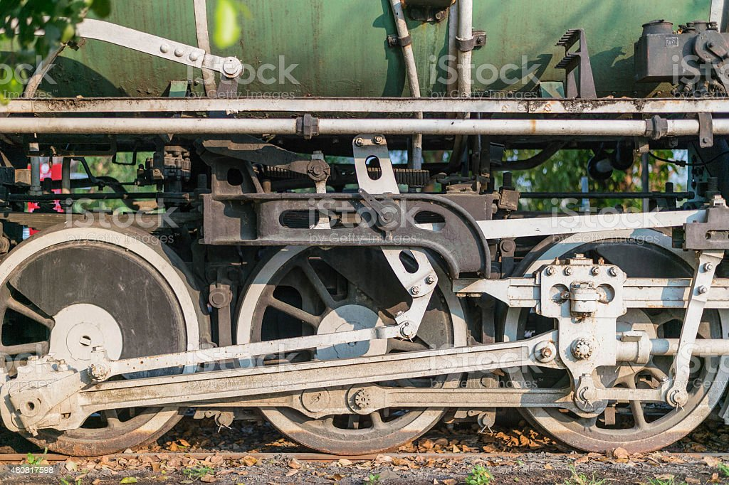 Streamed train wheel stock photo
