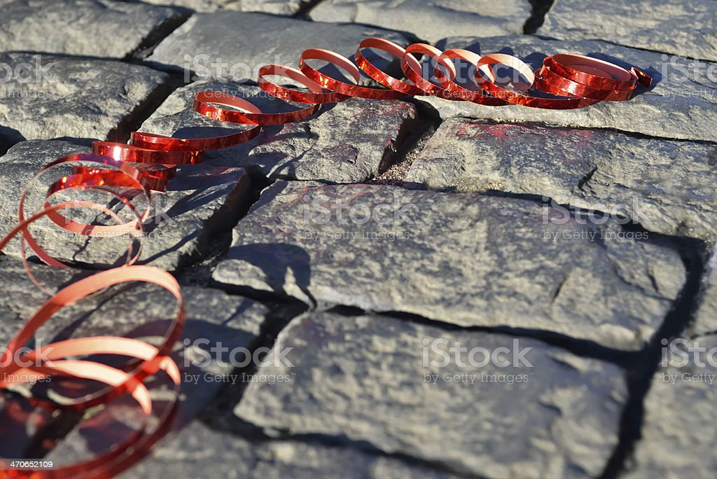 streamer on the ground royalty-free stock photo