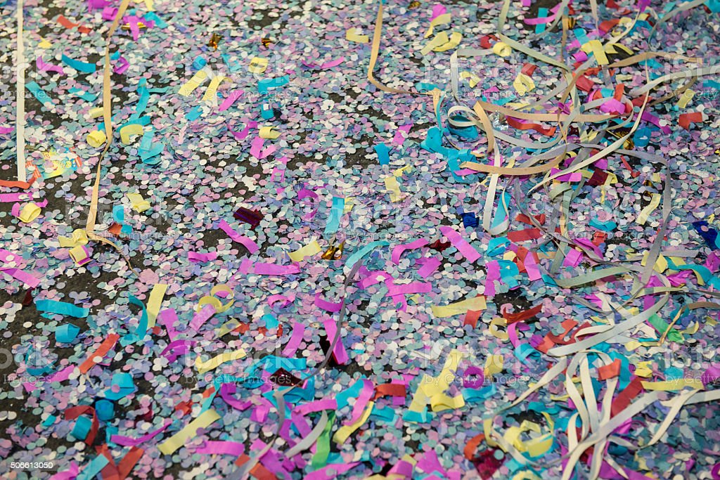 Streamers and Confetti stock photo
