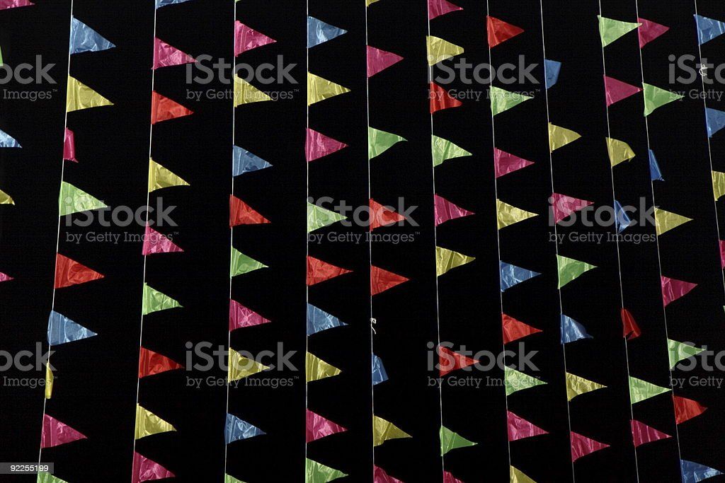 streamers / garlands royalty-free stock photo