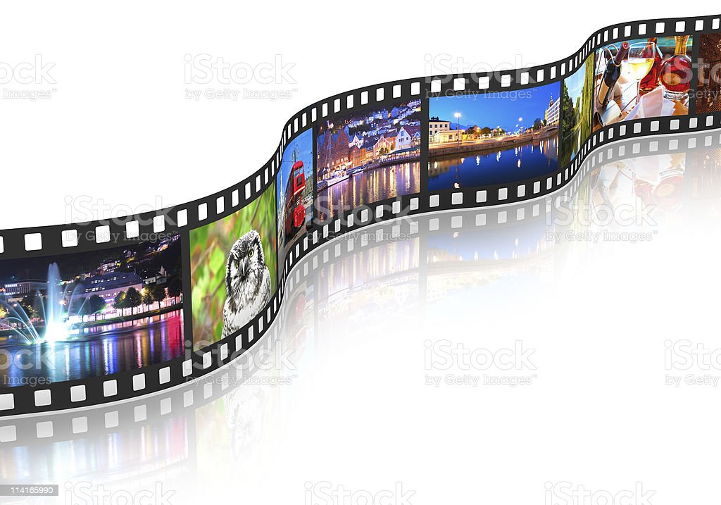 Streaming media concept stock photo