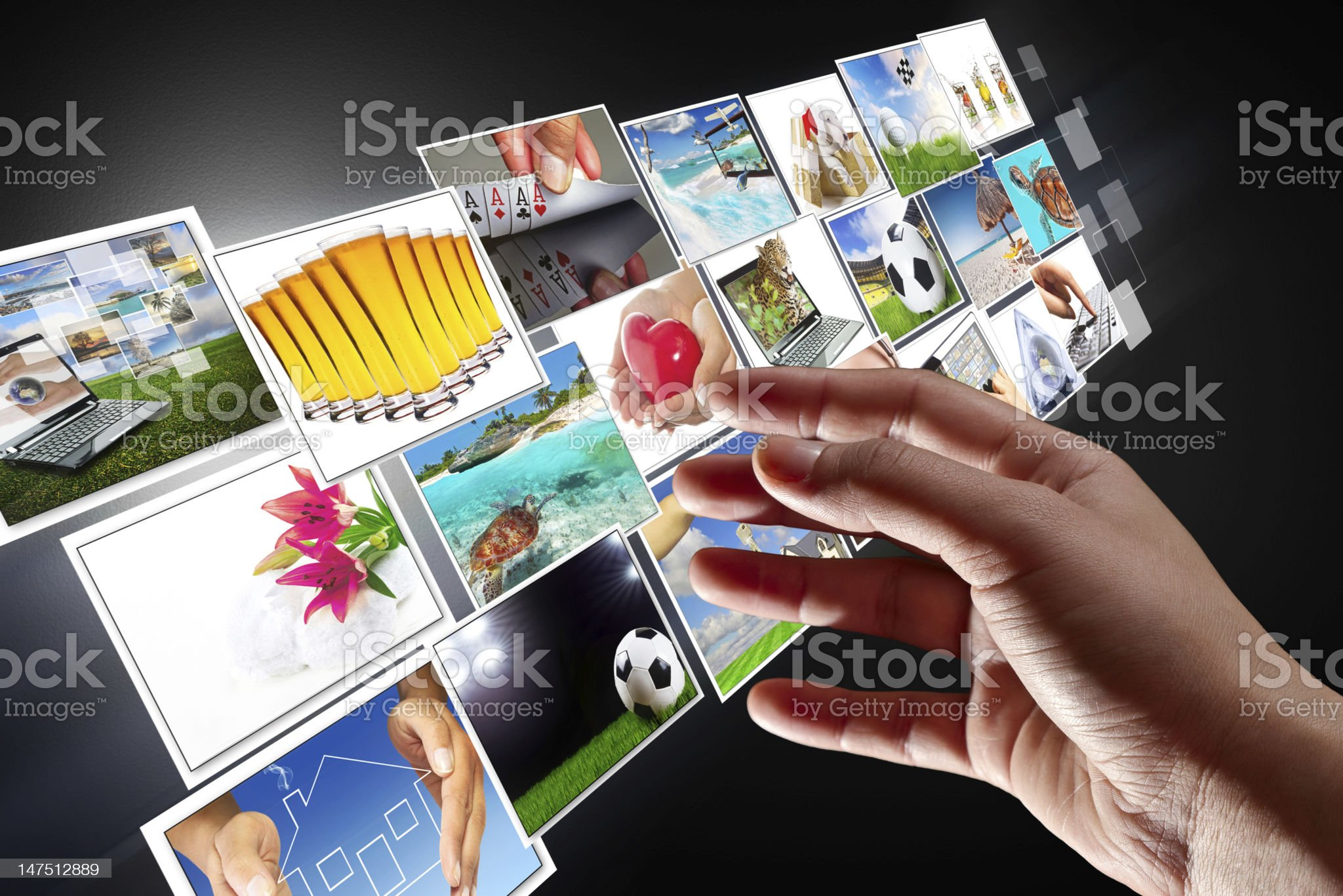Streaming multimedia screen royalty-free stock photo