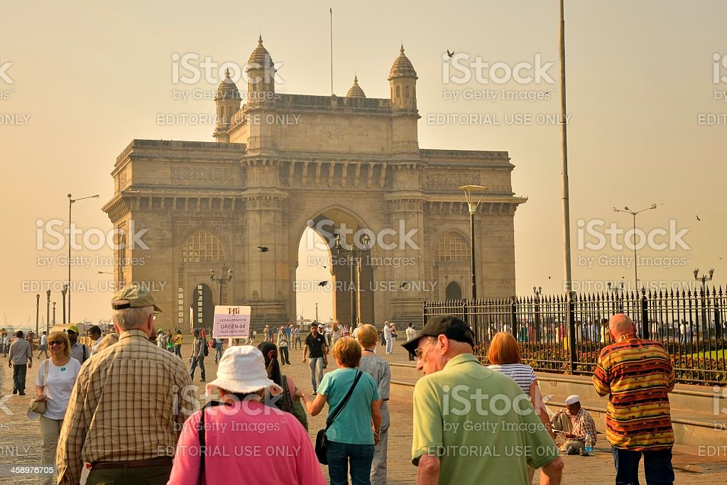 Streaming To The Gateway of India stock photo