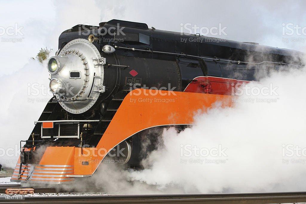 Streamline Steam Engine stock photo
