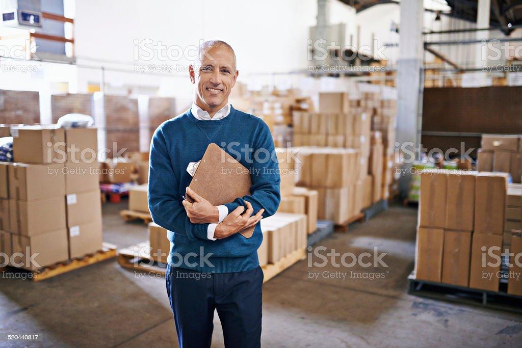 Streamlining logistics is what I do stock photo