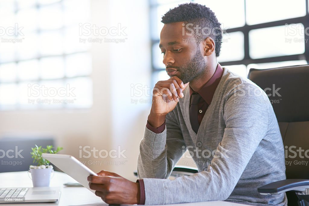 Streamlining work tasks with modern technology stock photo