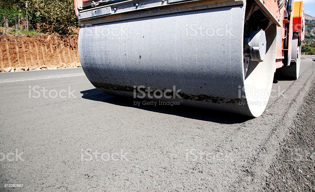 Streamroller Close-up stock photo