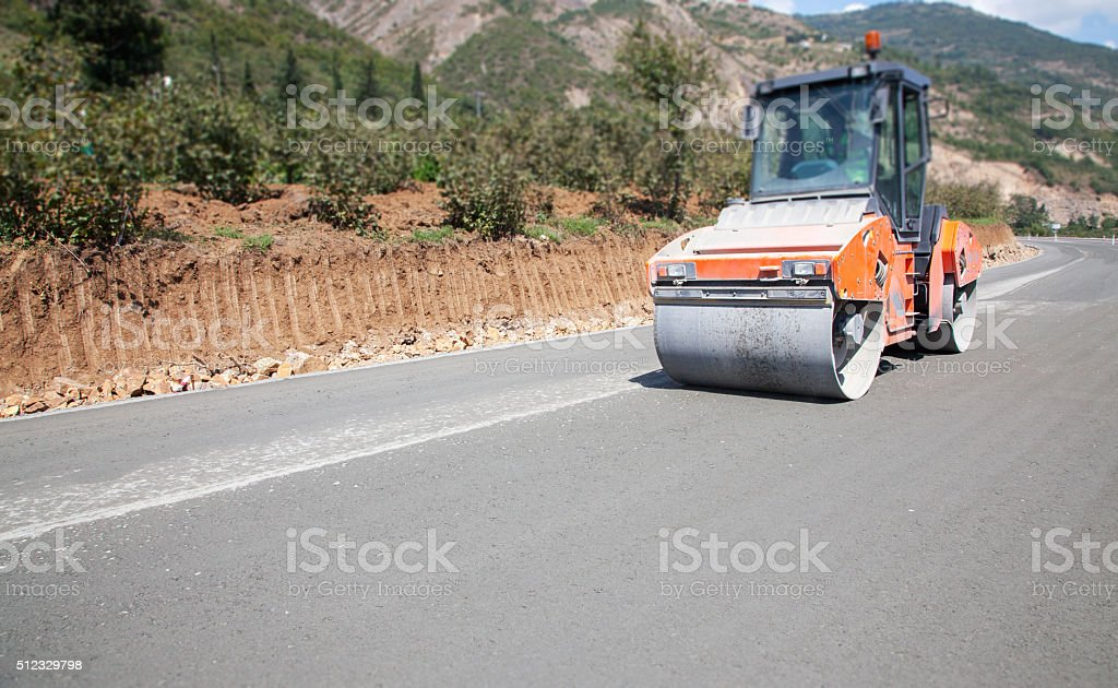 Streamroller stock photo