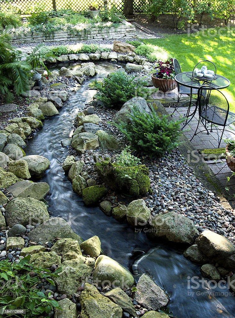 Streamside Garden Spot royalty-free stock photo