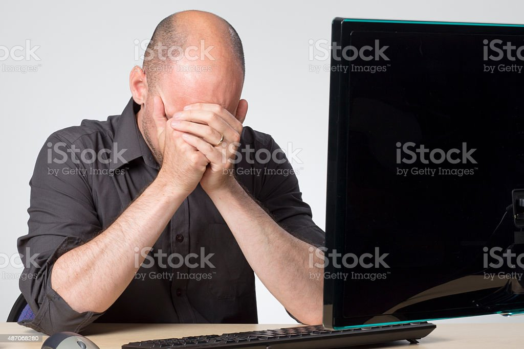 Streesed office worker stock photo