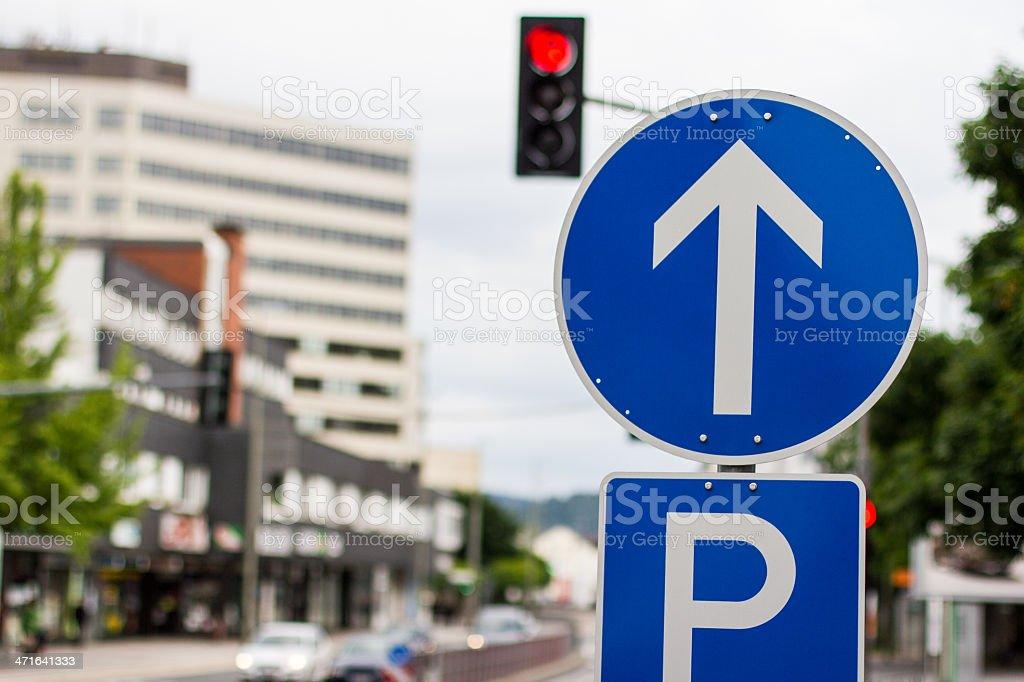 street arrow sign germany royalty-free stock photo