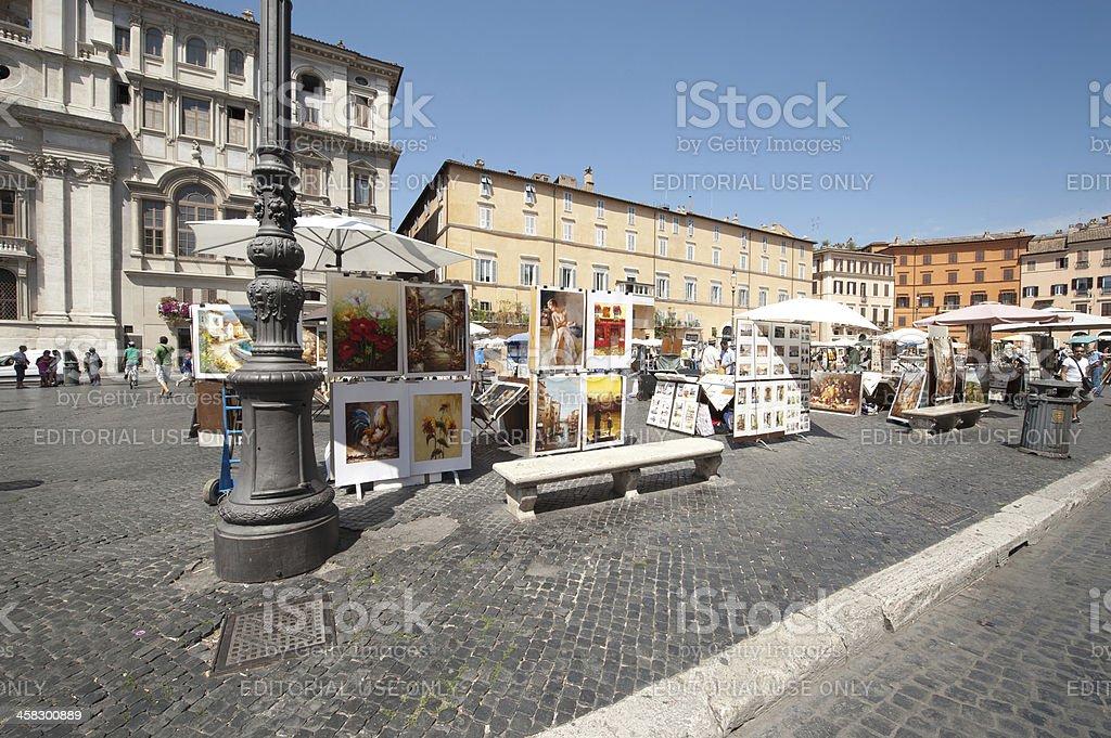 Street Art in Piazza Navona royalty-free stock photo