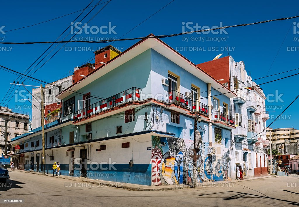 Street art of Havana stock photo