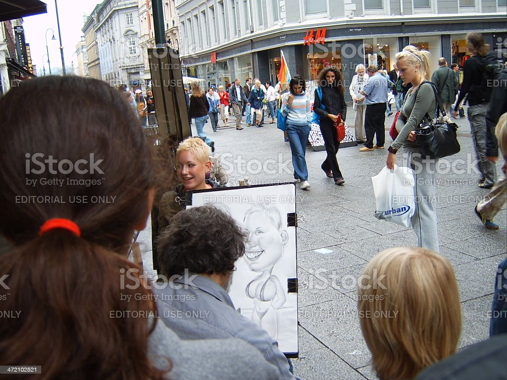 Street artist, Oslo, Norway stock photo