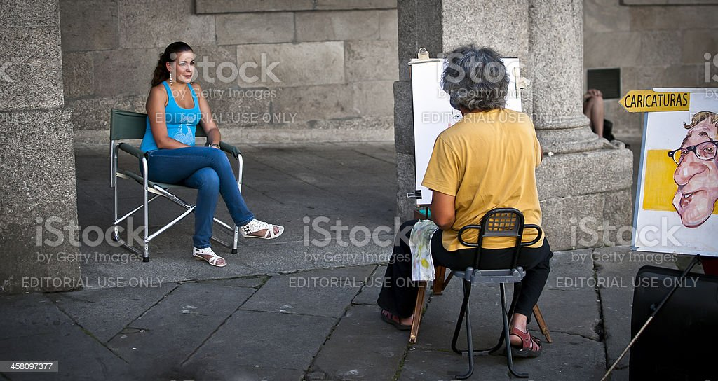 Street artist royalty-free stock photo
