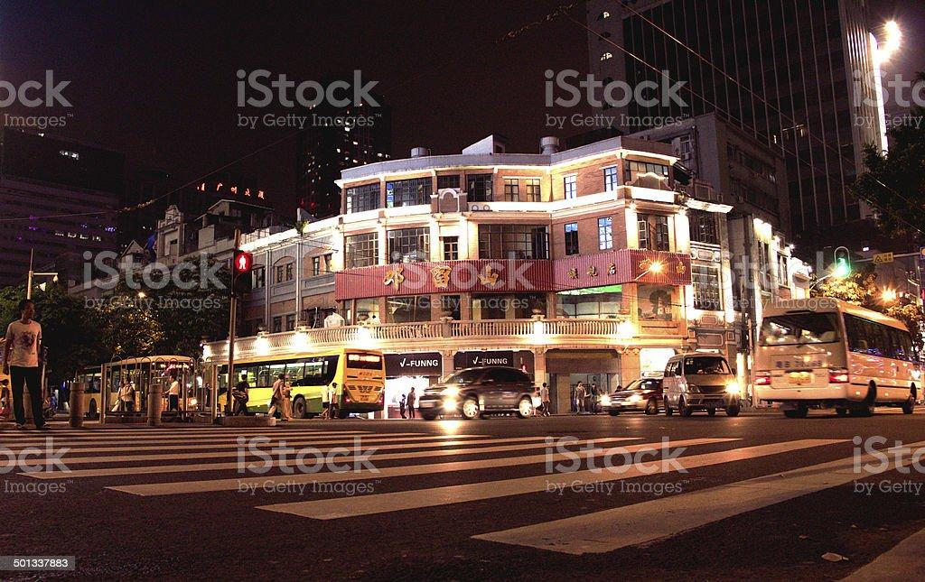 Street at Night china stock photo