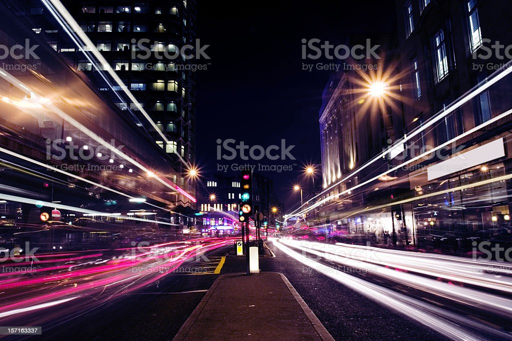 Street at night royalty-free stock photo